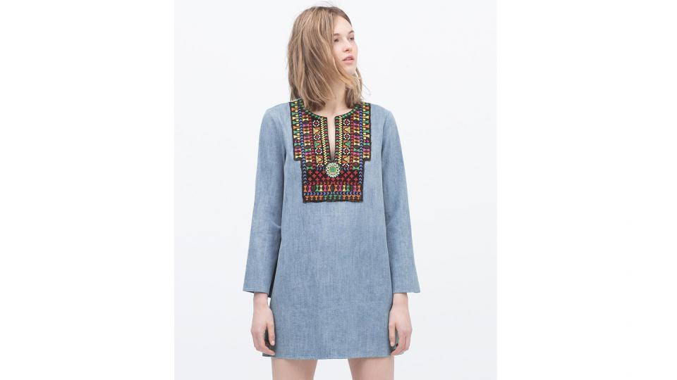 Платье Zara 3,999 руб. (фото с сайта zara.com)