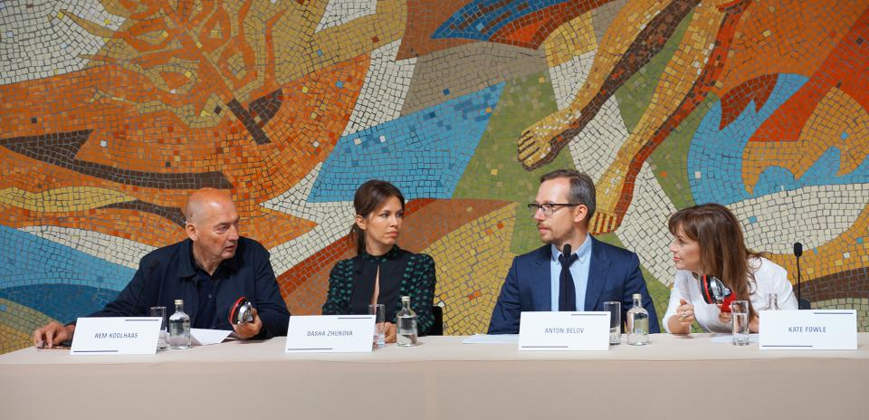 архитектор музея Рем Колхас, основатель Дарья Жукова, директор Антон Белов, главный куратор Кейт Фаул