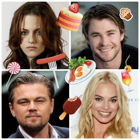 Если бы голливудские актеры были едой