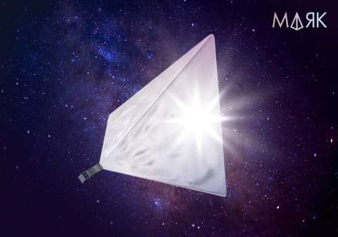 Спутник появится в небе в виде яркой звезды