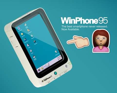 Смартфон из 90-х: представлен мобильник на платформе Windows 95